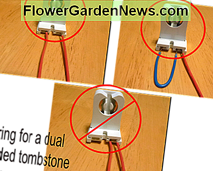 Wiring for a dual ended LED tube. Either two wires must be used or a jumper placed to join the two sides of the tombstone. Either of the top two methods is acceptable with both wires going to the same power wire.