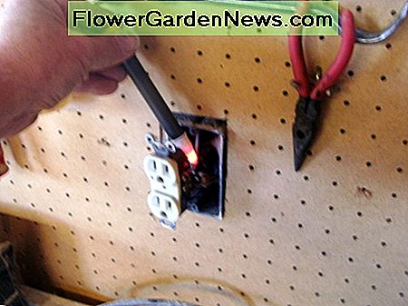 Using a non contact voltage detector.