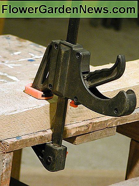 Quick release clamps are useful for holding timber