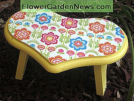 Decorative heart shaped stool