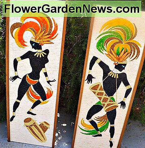 VINTAGE CRUSHED GRAVEL MOSAIC ART PAIR OF DANCERS MID CENTURY MODERN 13