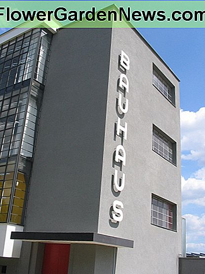 Restored Bauhaus buildings in Dessau. Image by Curt Gardner