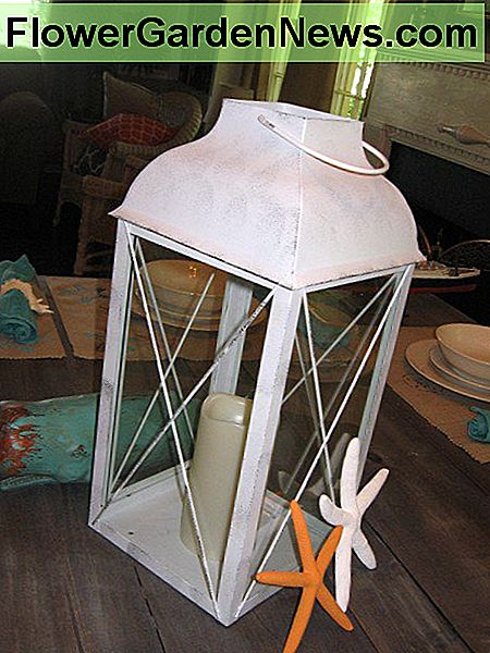 An LED candle lantern is an easy way to add some soft lighting.