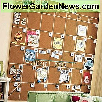 This is a fun cork board idea for the wall!