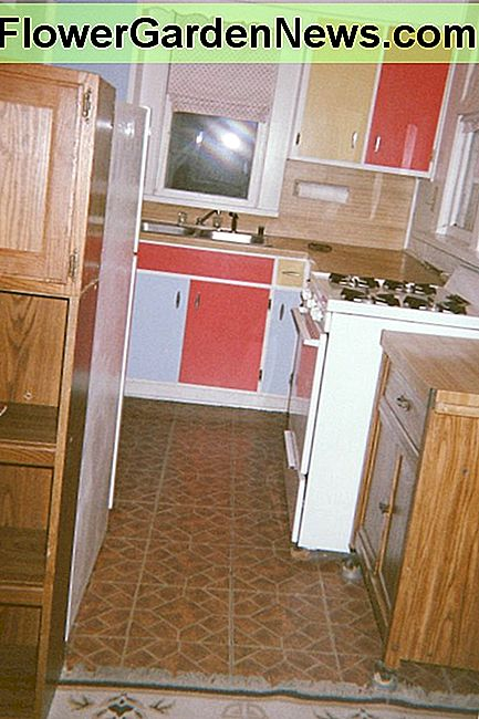 The upstairs apartment kitchen