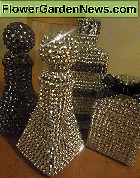 Rhinestone covered bottles