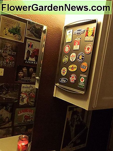 Use a baking tray to stick some of your favorite magnets.