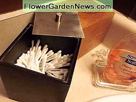 Small brown box used for Q-tip storage.
