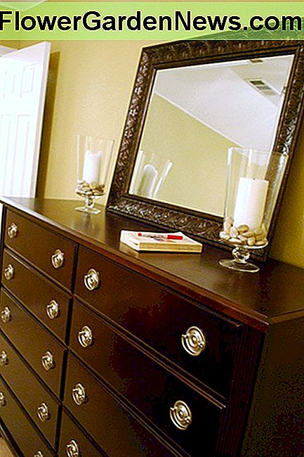 New pulls can completely change the look of an old dresser.