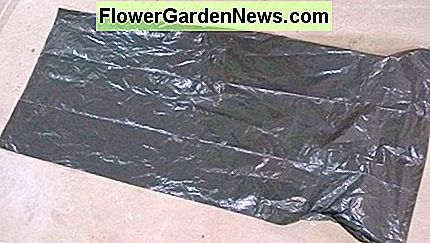 Cover the floor with a refuse sack (trash bag), newspapers, plastic sheet etc.