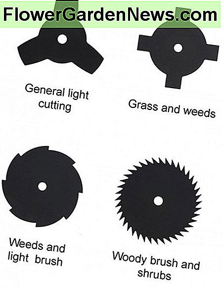 Some of the common brush cutter blades