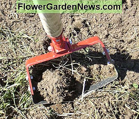 I used manual tools like this loop weeder to remove the grassy sod and create a nice garden plot for vegetables.