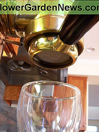 Here is the Naked Portafilter (with the handle reinstalled) with basket full of coffee, mounted in my espresso machine.