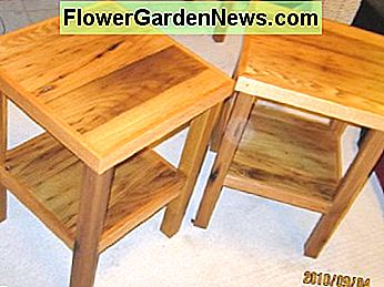 These quaint rustic end tables were made from the reclaimed wormy chestnut found in a centuries old farm home.