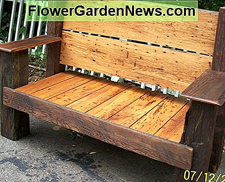 This American wormy chestnut bench now sits proudly on a homestead here in North Carolina.