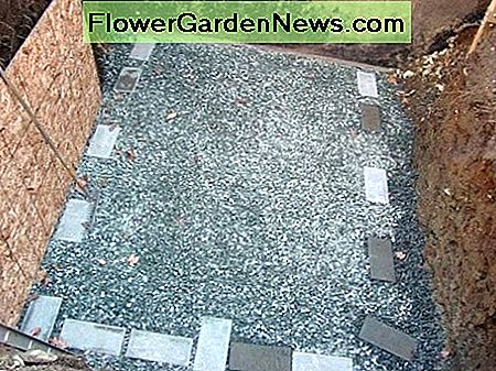 Gravel and Footing Pads for Root Cellar
