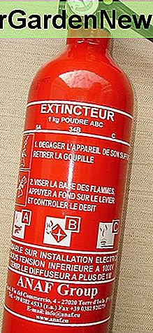 Powder fire extinguisher for class A, B and C fires