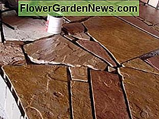 Flagstone floors.