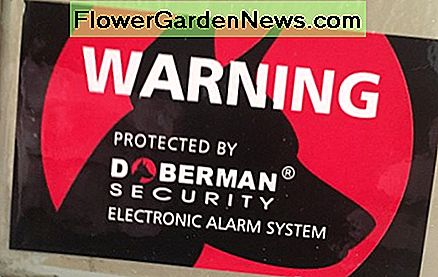 These are great, bright, alarm stickers that can be used to show you have an alarm system in your home.