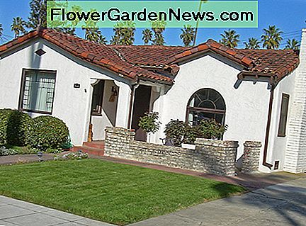 Typical Spanish Colonial bungalow in California.
