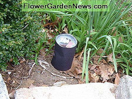The homemade mosquito trap in the garden