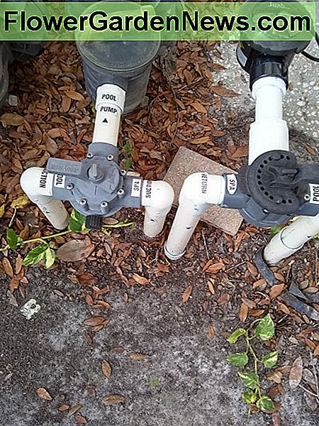 These valves are positioned for pool mode only. If the return valve was turned toward spa, this will create an overflow (fountain)